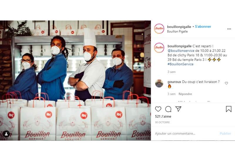présenter équipe restaurant instagram