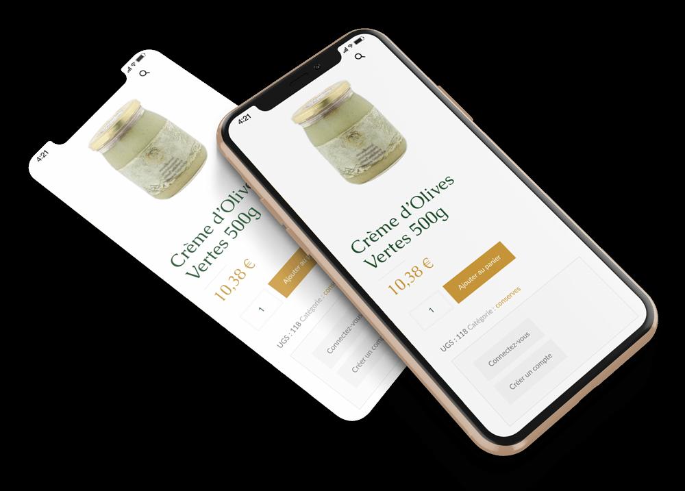 Jardin des oliviers version mobile