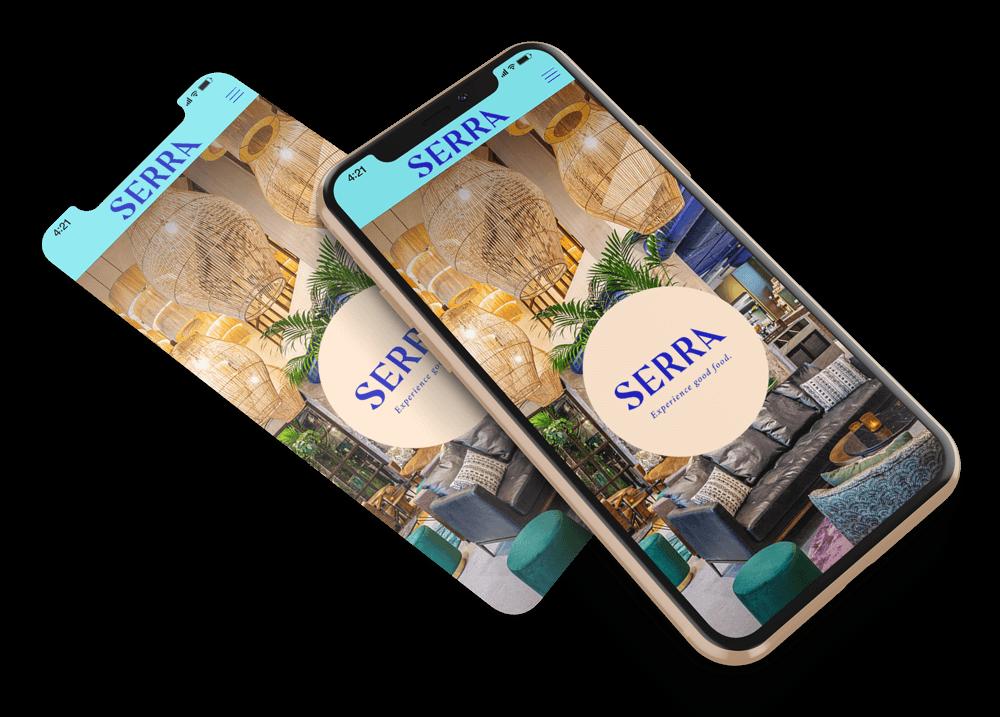 Site web version mobile Serra