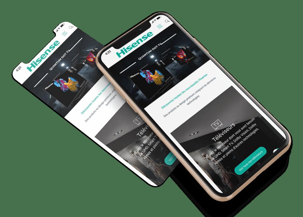 Site mobile Hisense