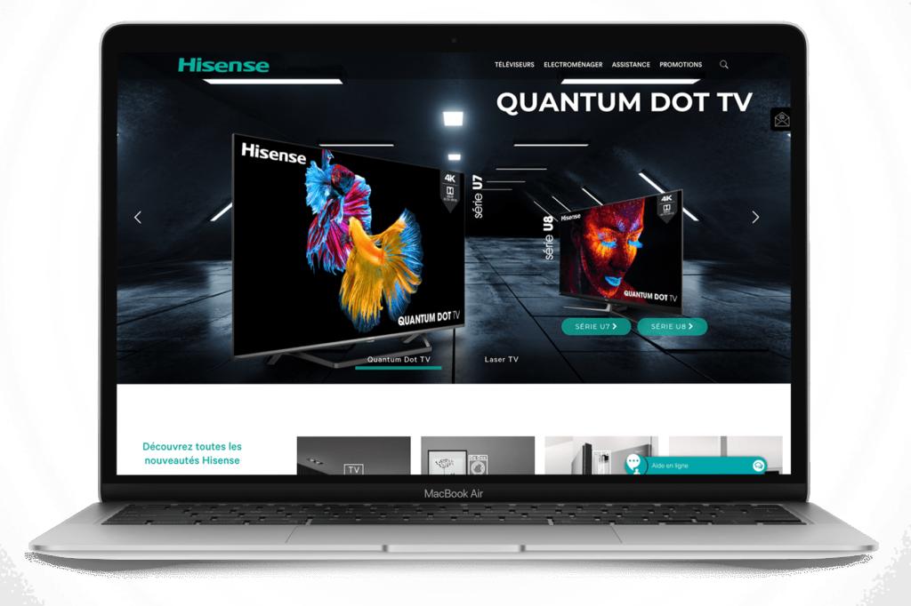 Site internet Hisense